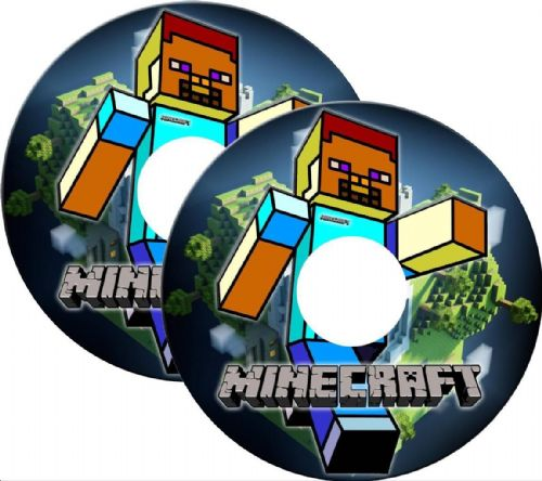 MINECRAFT Wheelchair Spoke Guard Sticker Skins